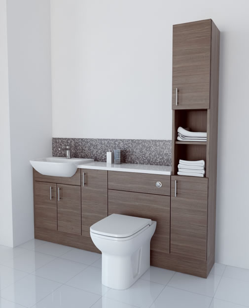 Popular  1600 Fitted Bathroom Furniture Grey Buy Online At Bathroom City