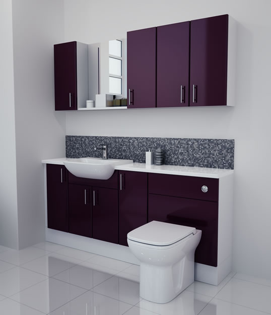 Bathcabz bathroom fitted furniture products fitted for Aubergine bathroom ideas