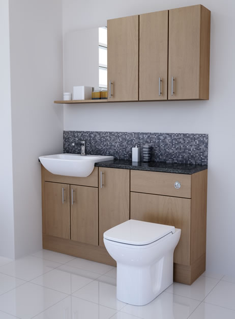 Amazing SLIM LINE OAK FITTED BATHROOM FURNITURE Price Comparison Amp Reviews At