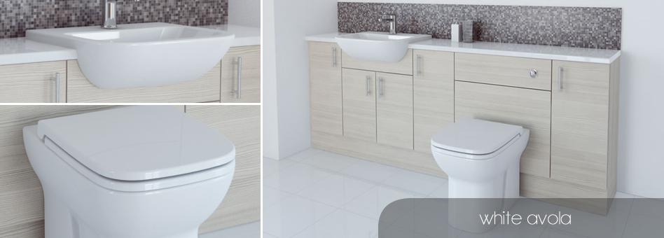 bathcabz bathroom fitted furniture white avola furniture. Black Bedroom Furniture Sets. Home Design Ideas