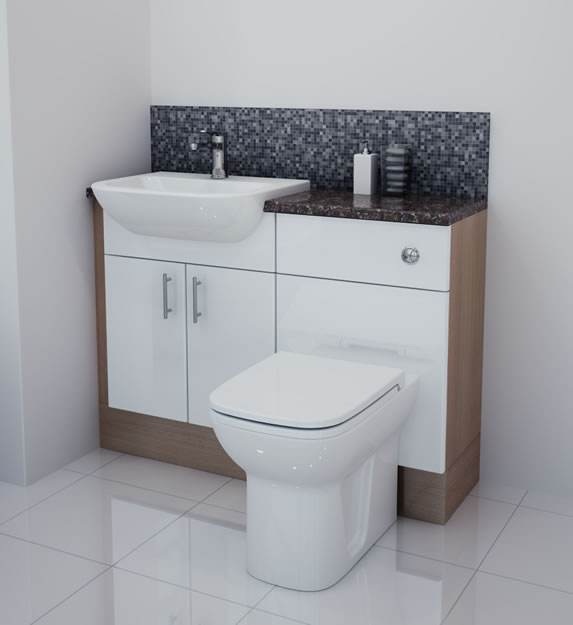 Elegant Aqua Cabinets D450 Fitted Bathroom Furniture  UK Bathroom Solutions