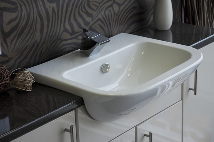 Modern Semi-Recessed Basin